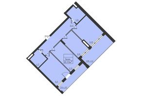 ЖК Avinion: планировка 3-комнатной квартиры 85.9 м²