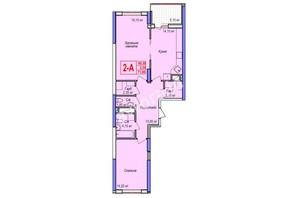 ЖК Аврора: планування 2-кімнатної квартири 71.85 м²