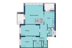 ЖК Аврора: планування 3-кімнатної квартири 95.05 м²