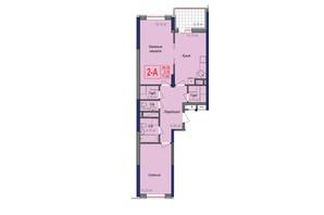 ЖК Аврора: планировка 2-комнатной квартиры 71.85 м²
