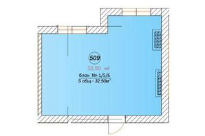 ЖК Австрійський: планування 1-кімнатної квартири 32.5 м²