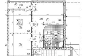 ЖК Автокразовский бульвар: планировка 3-комнатной квартиры 84.94 м²