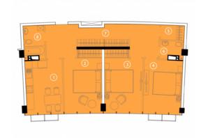 ЖК Авторський район: планування 3-кімнатної квартири 82.5 м²