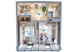 ЖК Авторський район: планування 1-кімнатної квартири 43 м²