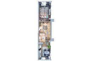 ЖК Авторський район: планування 1-кімнатної квартири 52.5 м²