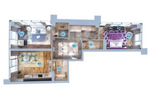 ЖК Авторский район: планировка 2-комнатной квартиры 76.8 м²