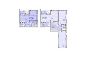 ЖК Багговутівській: планування 3-кімнатної квартири 143.54 м²
