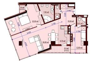 ЖК Баку: свободная планировка квартиры 110 м²