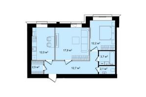 ЖК Barbara: планировка 2-комнатной квартиры 63.1 м²