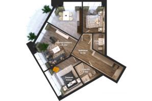 ЖК Bartolomeo Resort Town: планування 3-кімнатної квартири 83.64 м²