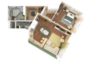 ЖК Bartolomeo Resort Town: планування 2-кімнатної квартири 78.13 м²