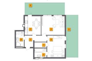 ЖК Basa City: планировка 2-комнатной квартиры 68.01 м²