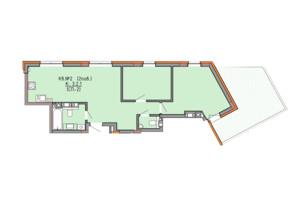 ЖК Басів схил: планування 2-кімнатної квартири 71.3 м²