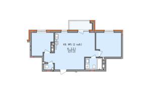 ЖК Басів схил: планування 2-кімнатної квартири 66.9 м²