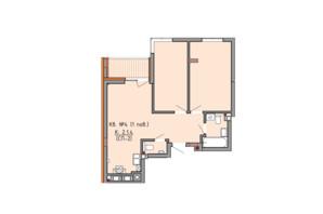 ЖК Басів схил: планування 2-кімнатної квартири 60.3 м²