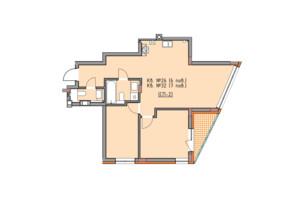 ЖК Басів схил: планування 2-кімнатної квартири 69 м²