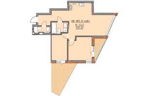ЖК Басів схил: планування 2-кімнатної квартири 73 м²