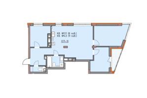 ЖК Басів схил: планування 3-кімнатної квартири 83.3 м²