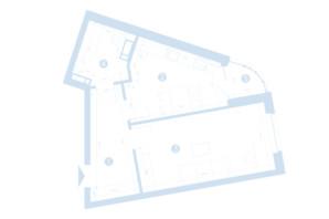 ЖК Берег Днепра: планировка 1-комнатной квартиры 46.92 м²