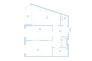 ЖК Берег Днепра: планировка 2-комнатной квартиры 73.9 м²