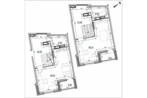 ЖК Берег Днепра: планировка 2-комнатной квартиры 103.94 м²
