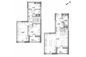 ЖК Берег Днепра: планировка 2-комнатной квартиры 88.09 м²
