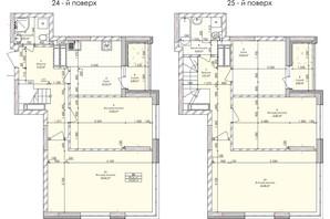 ЖК Бережанский: планировка 5-комнатной квартиры 134.6 м²