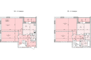 ЖК Бережанский: планировка 4-комнатной квартиры 128.64 м²