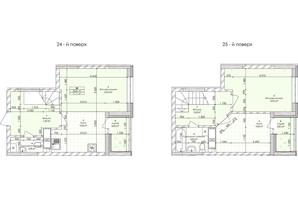 ЖК Бережанский: планировка 2-комнатной квартиры 71.1 м²
