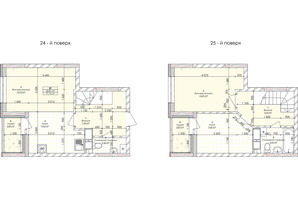 ЖК Бережанский: планировка 2-комнатной квартиры 71.13 м²