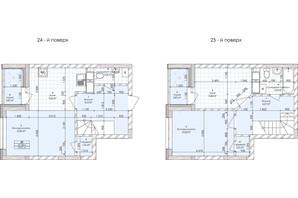 ЖК Бережанский: планировка 2-комнатной квартиры 73.95 м²