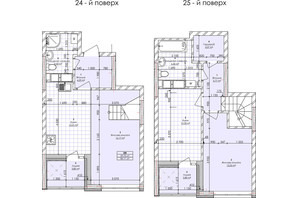 ЖК Бережанский: планировка 2-комнатной квартиры 84.11 м²