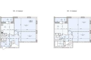 ЖК Бережанський: планування 4-кімнатної квартири 128.64 м²