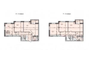 ЖК Бережанський: планування 5-кімнатної квартири 155.83 м²