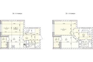 ЖК Бережанський: планування 2-кімнатної квартири 71.13 м²