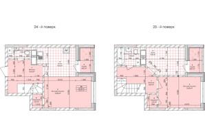ЖК Бережанський: планування 2-кімнатної квартири 73.97 м²