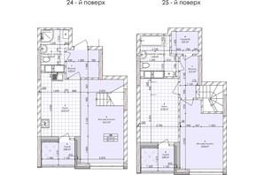 ЖК Бережанський: планування 2-кімнатної квартири 84.11 м²
