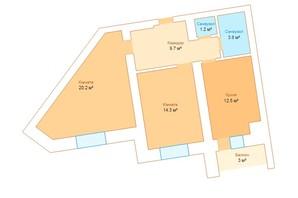 ЖК Borispol Grand: планування 2-кімнатної квартири 62 м²