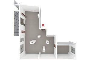 ЖК Будинок в Сокольниках: планування 3-кімнатної квартири 130.6 м²