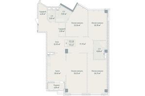 ЖК Бульвар фонтанов: планировка 4-комнатной квартиры 193.67 м²