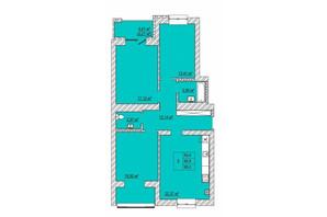 ЖК Caramel Residence: планування 3-кімнатної квартири 95 м²
