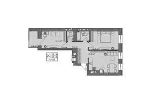 ЖК Central City apartments: планування 2-кімнатної квартири 67.65 м²