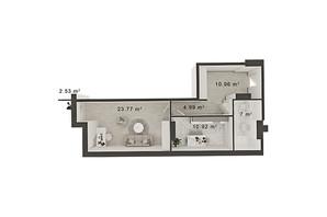 ЖК Central Park: планування 1-кімнатної квартири 50 м²