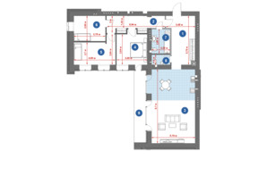 ЖК Central Park: планировка 3-комнатной квартиры 122.99 м²