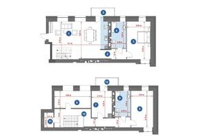 ЖК Central Park: планировка 5-комнатной квартиры 181.49 м²