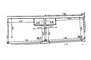 ЖК Чайка: планировка 1-комнатной квартиры 76.8 м²