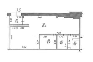 ЖК Чайка: планування приміщення 66.2 м²