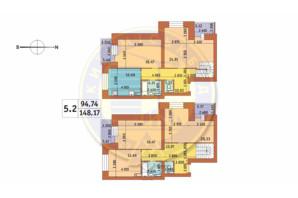 ЖК Чаривне Мисто: планировка 5-комнатной квартиры 213.99 м²
