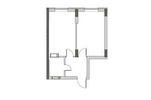 ЖК City Park 2 (Сити Парк 2): планировка 1-комнатной квартиры 58.1 м²