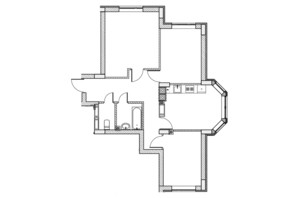 ЖК City Park 2 (Сити Парк 2): планировка 3-комнатной квартиры 71.8 м²